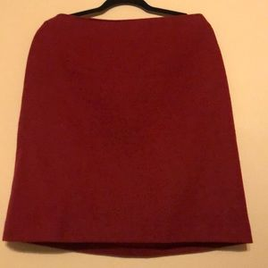 Boden Wool Ted Tweed Skirt Size US 12 R Deep red